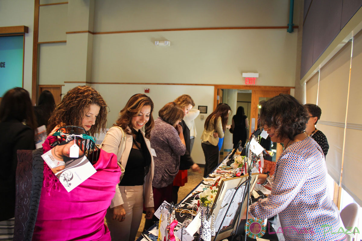 Narimon, rescues women from human trafficking,  sold jewelry at our Latinas On The Plaza Conference