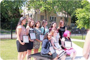 Graduation Fuerte Program 2016. Latinas on the Plaza.